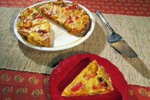 Frittata z papryką i cebulą (źródło: TLC)