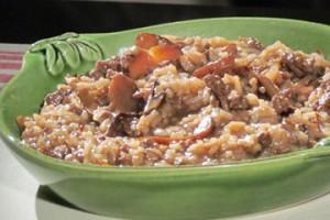 Risotto z wołowiną i grzybami (źródło: TLC)