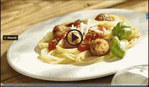 Spaghetti z soczystymi pulpecikami (źródło: kuchnialidla.pl)