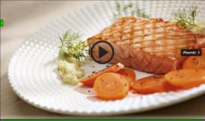 Pstrąg łososiowy z karmelizowaną marchwią (źródło: kuchnialidla.pl)