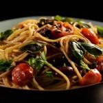 Pasta z pomidorami, anchois i chilli (źródło: bbc.co.uk)