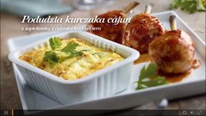 Podudzia kurczaka cajun z zapiekanką z cukinii i koziego sera (źródło: kuchnialidla.pl)