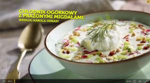 Chłodnik ogórkowy z prażonymi migdałami (źródło: kuchnialidla.pl)