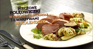 Pieczone polędwiczki w papryce z guacamole i z warzywami w kolendrze (źródło: kuchnialidla.pl)