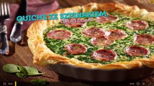 Quiche ze szpinakiem, serem i salami (źródło: kuchnialidla.pl)
