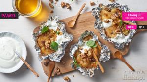 Grillowane banany z miodem i orzechami włoskimi (źródło: kuchnialidla.pl)