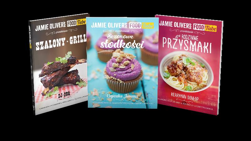 Okłądki  książek FoodTube Jamiego Olivera