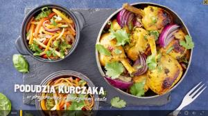 Podudzia kurczaka w przyprawach z warzywami sauté (źródło: kuchnialidla.pl)