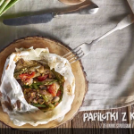 Papilotki z kurczakiem z zielonymi szparagami i sosem musztardowo-pieczarkowym (źródlo: kuchnialidla.pl)