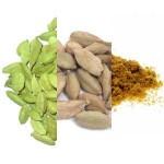 Kardamon w 3 postaciach: zielony, łuskany, sproszkowany