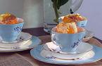 Suflet pompadour w pomarańczach