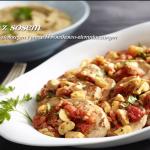 Schab z sosem pomidorowo-ziołowym i purée borowikowo-ziemniaczanym (źródło: kuchnialidla.pl)