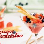 Arbuzowe szaleństwo czyli galaretka z arbuza z ciasteczkami francuskimi (źródło: kuchnialidla.pl)